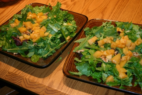 Nothing like fresh salad in late October!