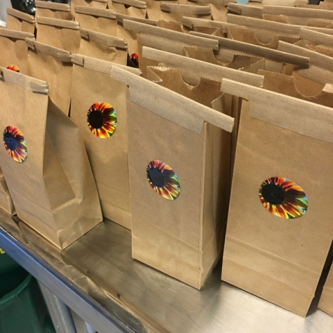 Goodie bags prepared for my October 15 US Tours Tea Tasting.