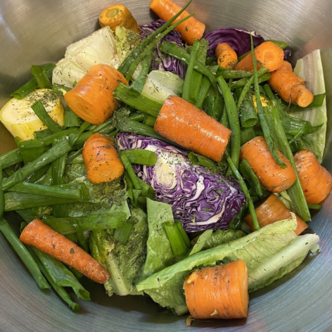 Making veggie broth September 13.