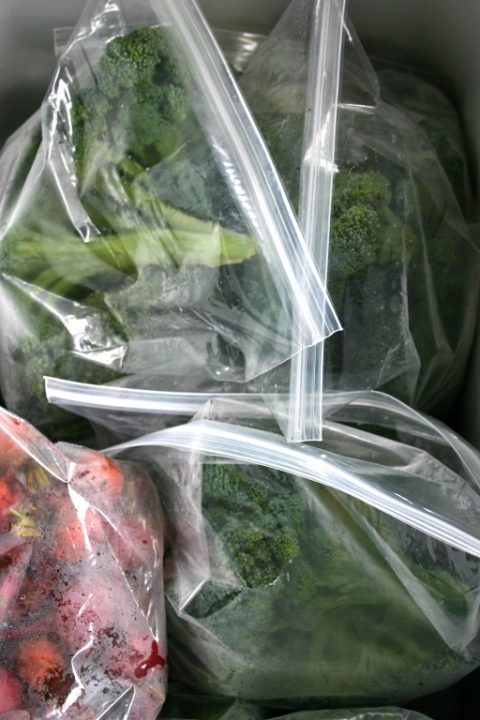 Beets & broccoli packaged for delivery..