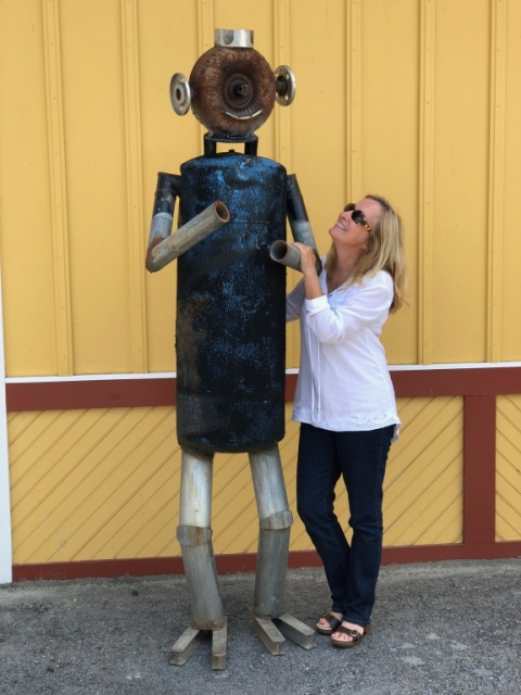 Dawn with Marlin Man at 4th Avenue Gallery (Pocahontas County Artisans Co-op). July 14.