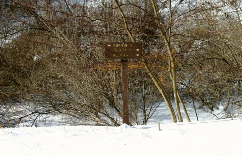Six miles from Durbin, 16 miles from Glady on the West Fork Rail Trail.