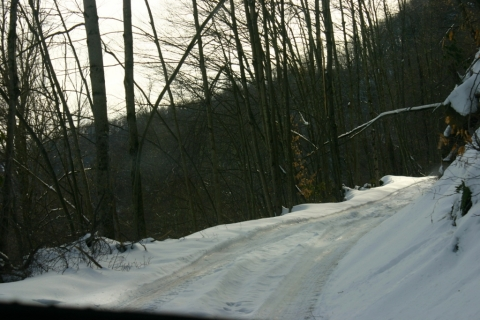 Bemis Road (County Route 22) heading out of Bemis, toward Beverly.